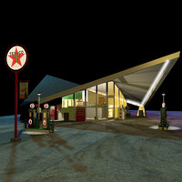 hyperbolic paraboloid gas station 3d max