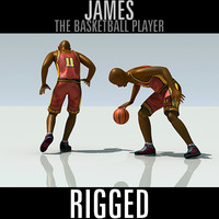basketball player james 3d model