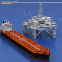 Oil platform with tankership