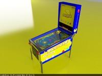 pacman pinball 3d model