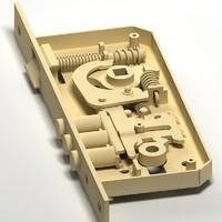 3dsmax lock mechanism doors