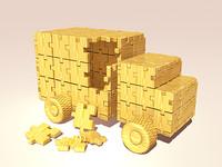 puzzle truck 3d 3ds