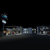 3d satellite motel 01 billboard