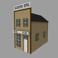 western hotel old west 3d model