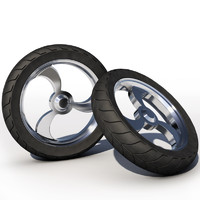 motorcycle wheel tire 3d 3ds