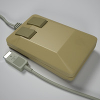 commodore amiga mouse 3d obj
