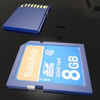 3d sd card model