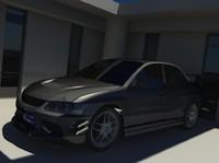 3d car storefront model