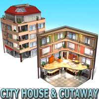 city building cutaway 3ds