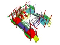 3d model of play playground