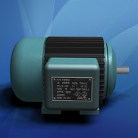 Electric Motor with Cooling Fins