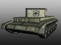3d model tank real time