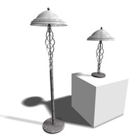 3ds lamps floor table