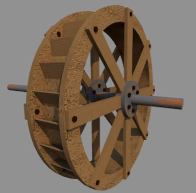 Water Wheel 3d Model 3d Models For Water Wheel