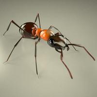 3d model formica rufa ant