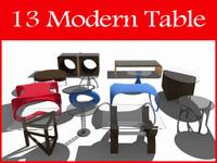 3d model modern tables