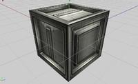 3ds futuristic sci-fi cargo crate box