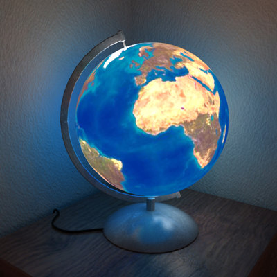 maya earth night light - Earth Night Light... by Raouldip
