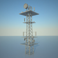 3d communication tower model