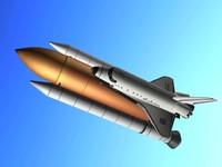 shuttle space 3d model