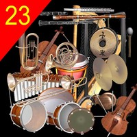 3d model orchestra drum