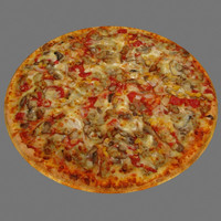 3ds max pizza vegetable
