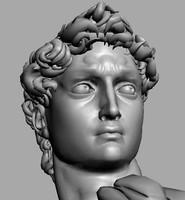3d model david statue accurate