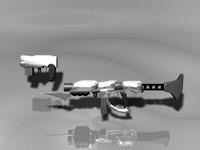 3d model sci-fi weapons