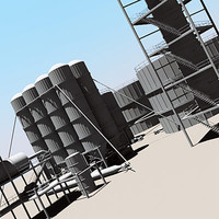 3d model of industrial silo