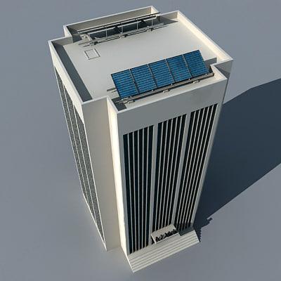 3d Model Skyscrapers Skyscraper Solar Panel 3d