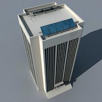 skyscraper solar panel 3d model