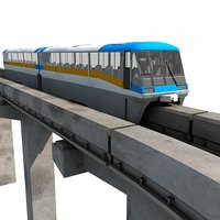 locomotive overpass 3d model