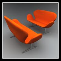 3d swan sofa