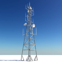 3d radio tower model