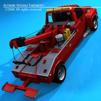 3d tow truck towtruck