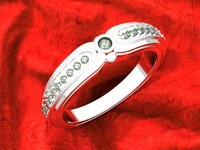 3d model of woman s ring jewelry
