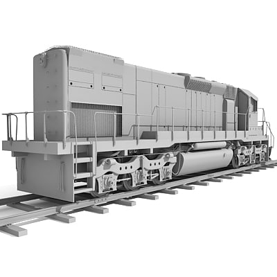 3ds max train wagon - Train with Wagon - Updated... by Gandoza