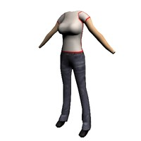 free female character 3d model