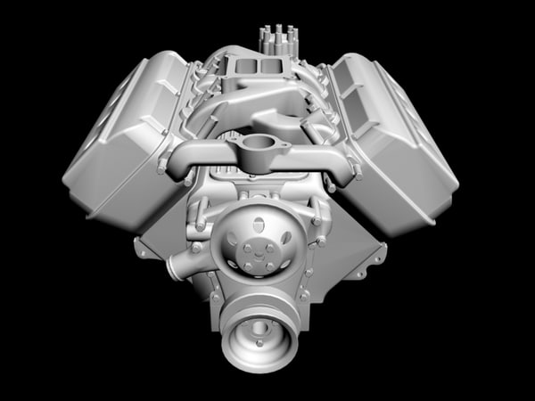 early hemi v8 engine 3ds - Early Hemi V8 Engine... by ajwheels