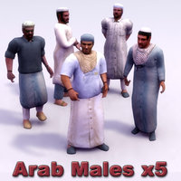 Arab Male x5 Rigged