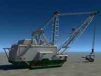 3d bucyrus erie 8750 dragline model
