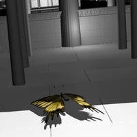 flying butterfly animation soul 3d model