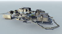 edinburgh castle 3d model