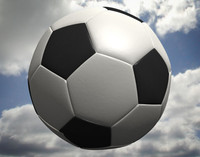 cinema4d football soccer ball