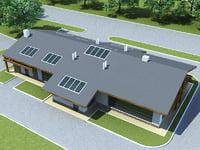 3d house hotel v6 model