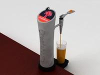 3d model oranjeboom beer tap glass