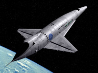 3d model orion iii spaceplane space odyssey