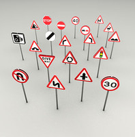 c4d uk road signs