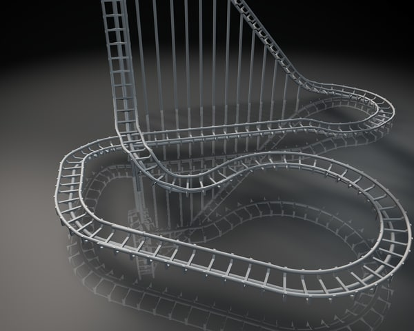 free roller coasters 3d model