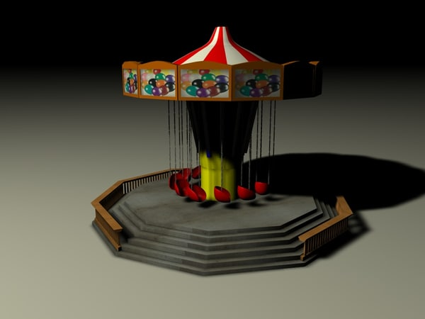 3d swings amusement park - Swings... by Etwin